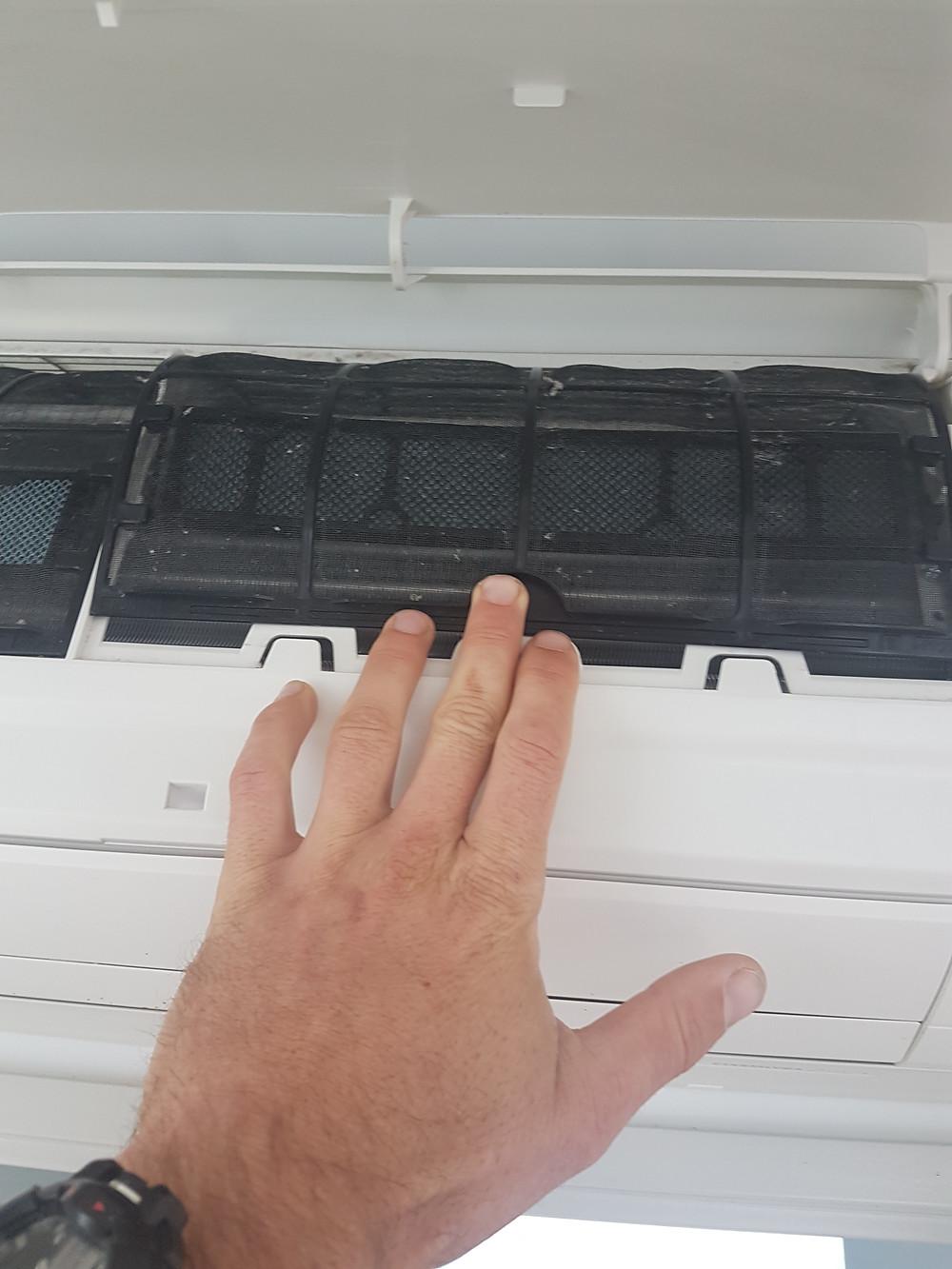Wakatipu Heating Refrigeration-Change heatpump filter-remove filter
