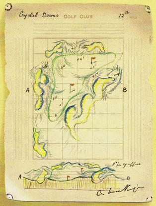 Drawing Crystal Downs #12 Green (Clouser