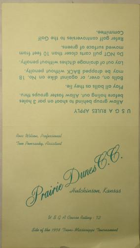 Document circa 1958 Scorecard(2) - Prair