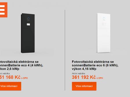 ČEZ začal půjčovat baterie pro fotovoltaické elektrárny
