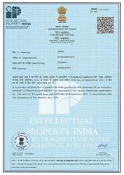 New HE3DA patent in India