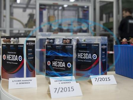 Česká HE3DA zahájila výrobu nové generace baterií