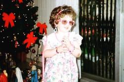 Diana Simán as a little girl
