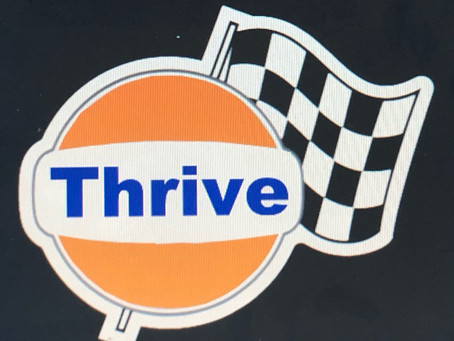 "Introducing my new logo moto inspired ""Thrive"""