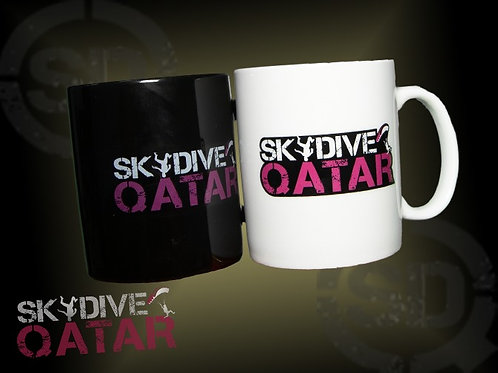 Skydive Qatar mugs