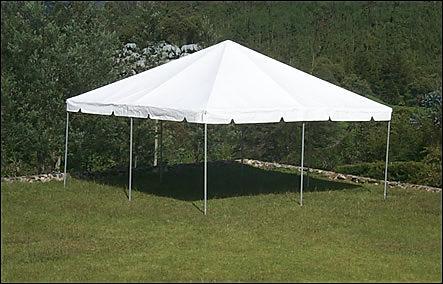 20x20 white tent rental