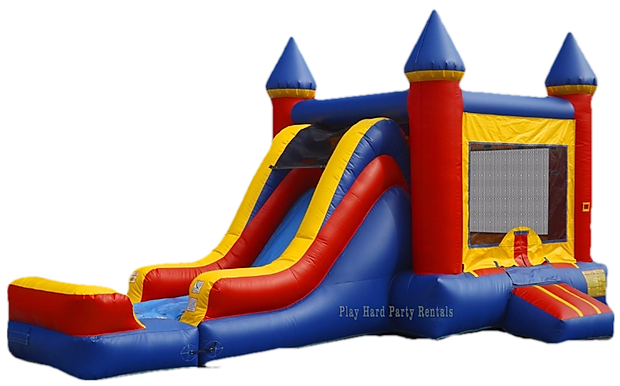 bounce house combo unit with side rental
