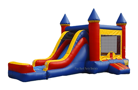 Como bounce house with slide rental