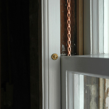 Fully Restored Window With Copper Chain