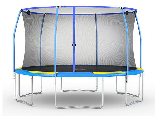 Bounce Pro 12-Foot Trampoline and SteelFlex Enclosure with Electron Shooter Game