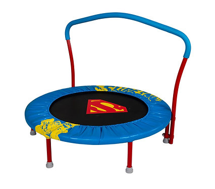 My First Superman 36-Inch Trampoline, with Handlebar