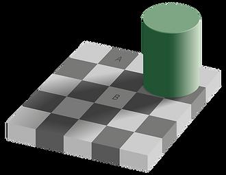 Illusion d'optique échiquier adelson opticien Mathieu chaudeur