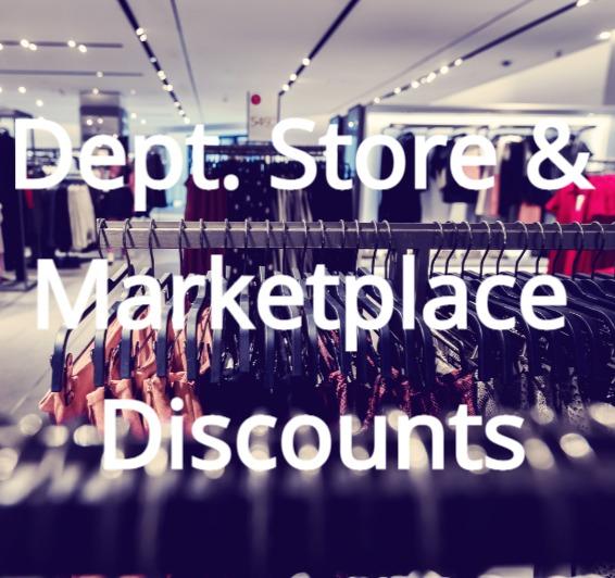Marketplaces & Dept Stores discounts