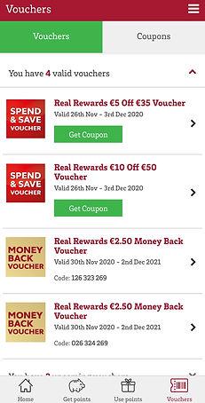 Supervalu Money Back Spend Save vouchers
