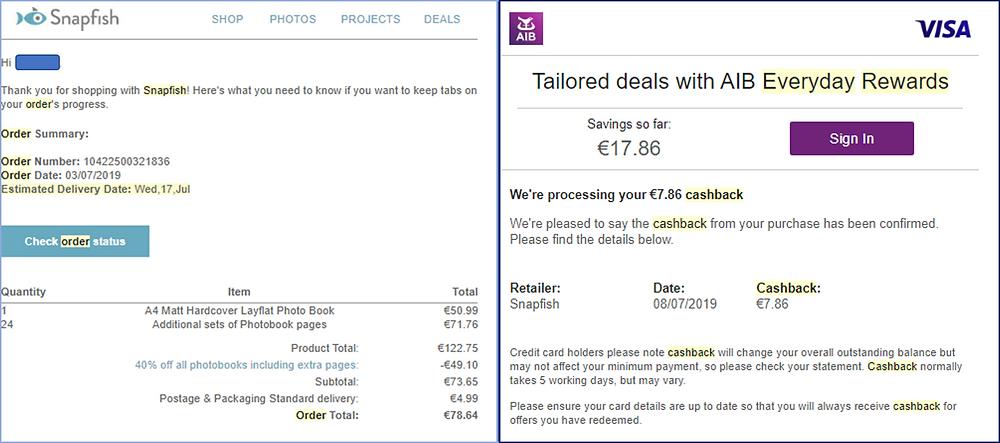 Stack Snapfish discount code with Visa cashback to maximise savings