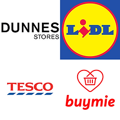 Dunnes, Tesco, Lidl 20% discount
