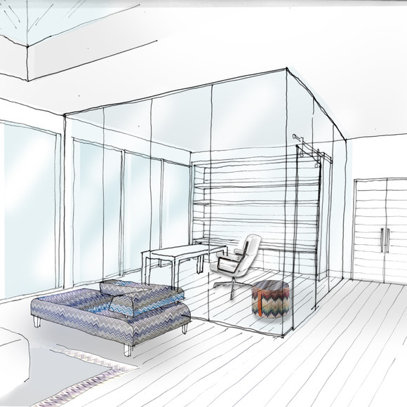 Visual of glass office