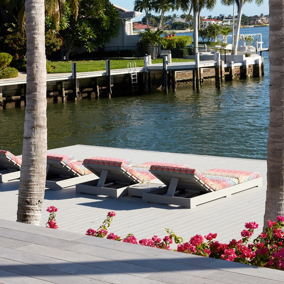 Dock with loungers