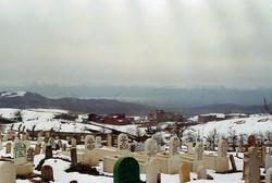 Kuzey mezarlıklarından kale görüntüs