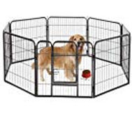 BestPet Black 40 Heavy Duty Pet Playpen.