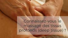 Massage des tissus profonds / deep tissue