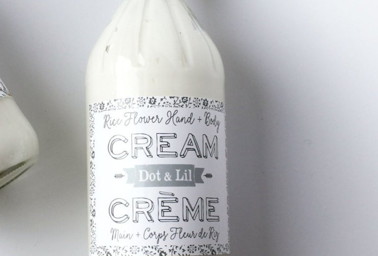 Crème mains & corps Fleur de riz - Dot & Lil