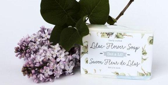 Barre de savon Lilas - Dot & Lil
