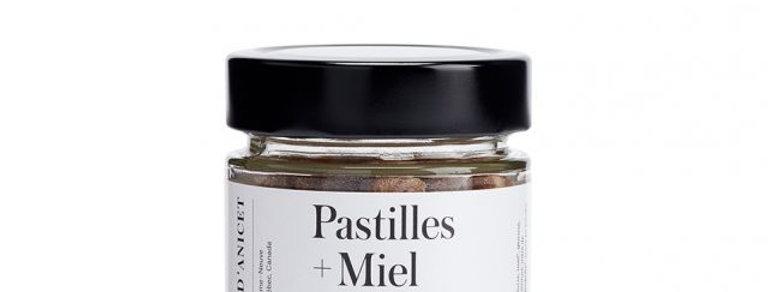 Pastilles Miel + Propolis + Huiles essentielles - Miel d'Anicet