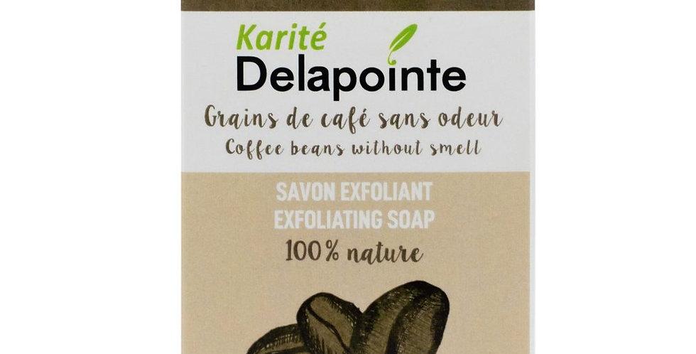 Savon exfoliant aux grains de café - Karité Delapointe