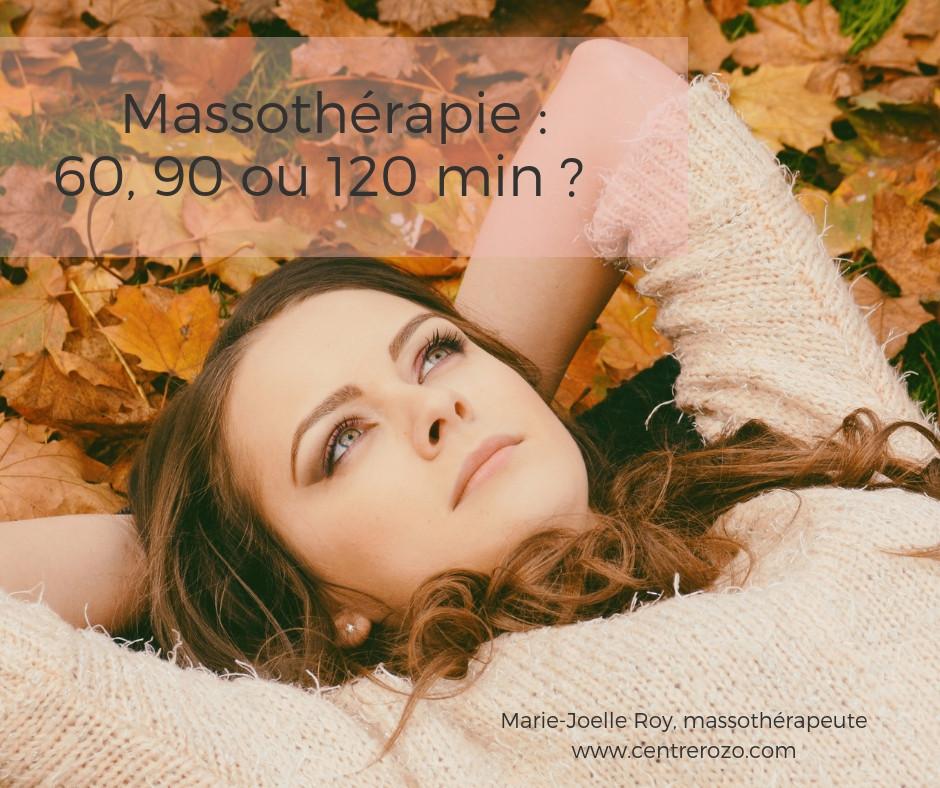 Massothérapie quelle durée choisir ?