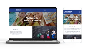 New anchor academy desktop and mobile website