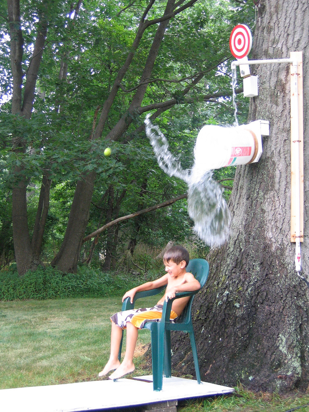 Homemade water dunk tank