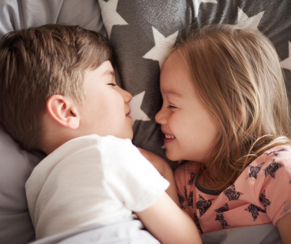 children taking a nap