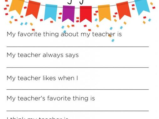 National Teachers Appreciation Month