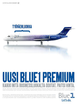 Blue1 Premium Kauppalehti Optio ilmoitus