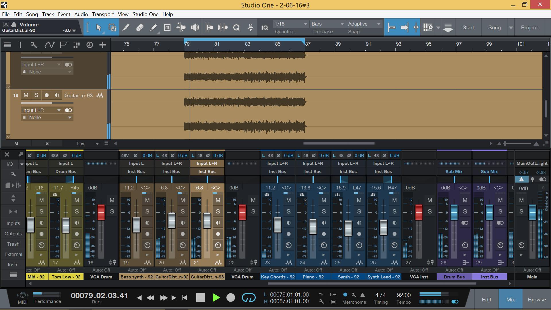 Signals2Sounds - Studio equipment, software and instrument list