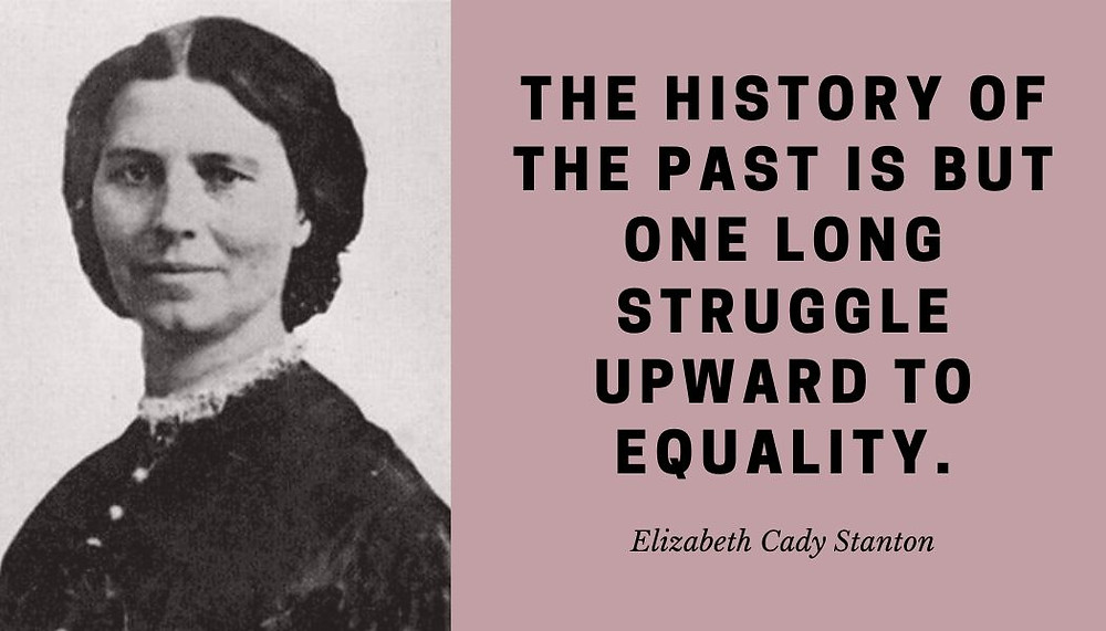 Elizabeth Cady Stanton, a true leader of the women's rights movement in the U.S. from 1850 and beyond. Considered the leading force at the 1848 Seneca Falls Convention, the first convention with the sole purpose of discussing women's rights, she is classified as the main author of its Declaration of Sentiments.