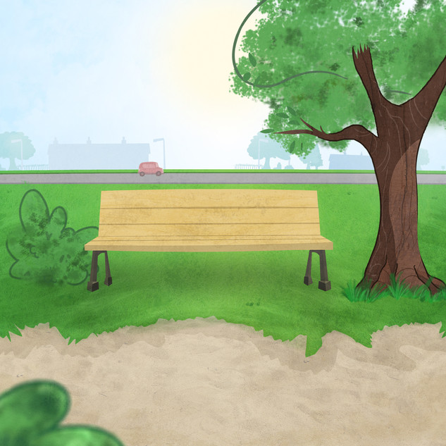 Digitally Painted Background Design