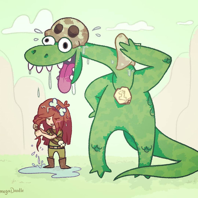 Two cute Dino Racers - Character Design