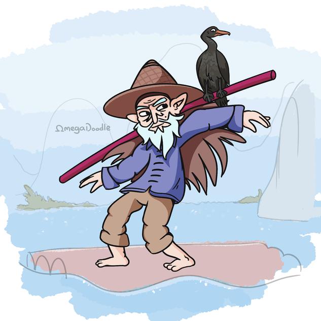 Cormorant Fisherman - Character Design C