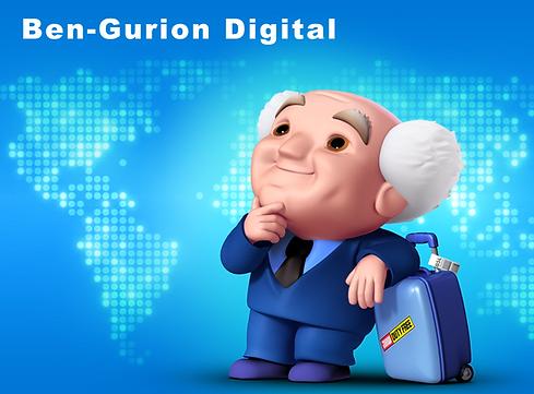 Ben Gurion Digital cartoon character