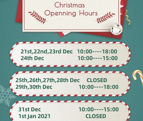 Chrismas Openning Hours, New Paddy Crew wish all our customers Merry Christmas and A Happy New Year!