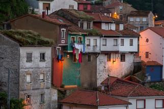 Häuserfronten von Cudillero