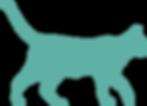 silhouette of walking cat