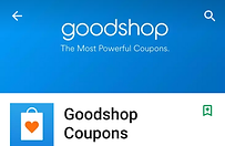 screenshot of goodshop app