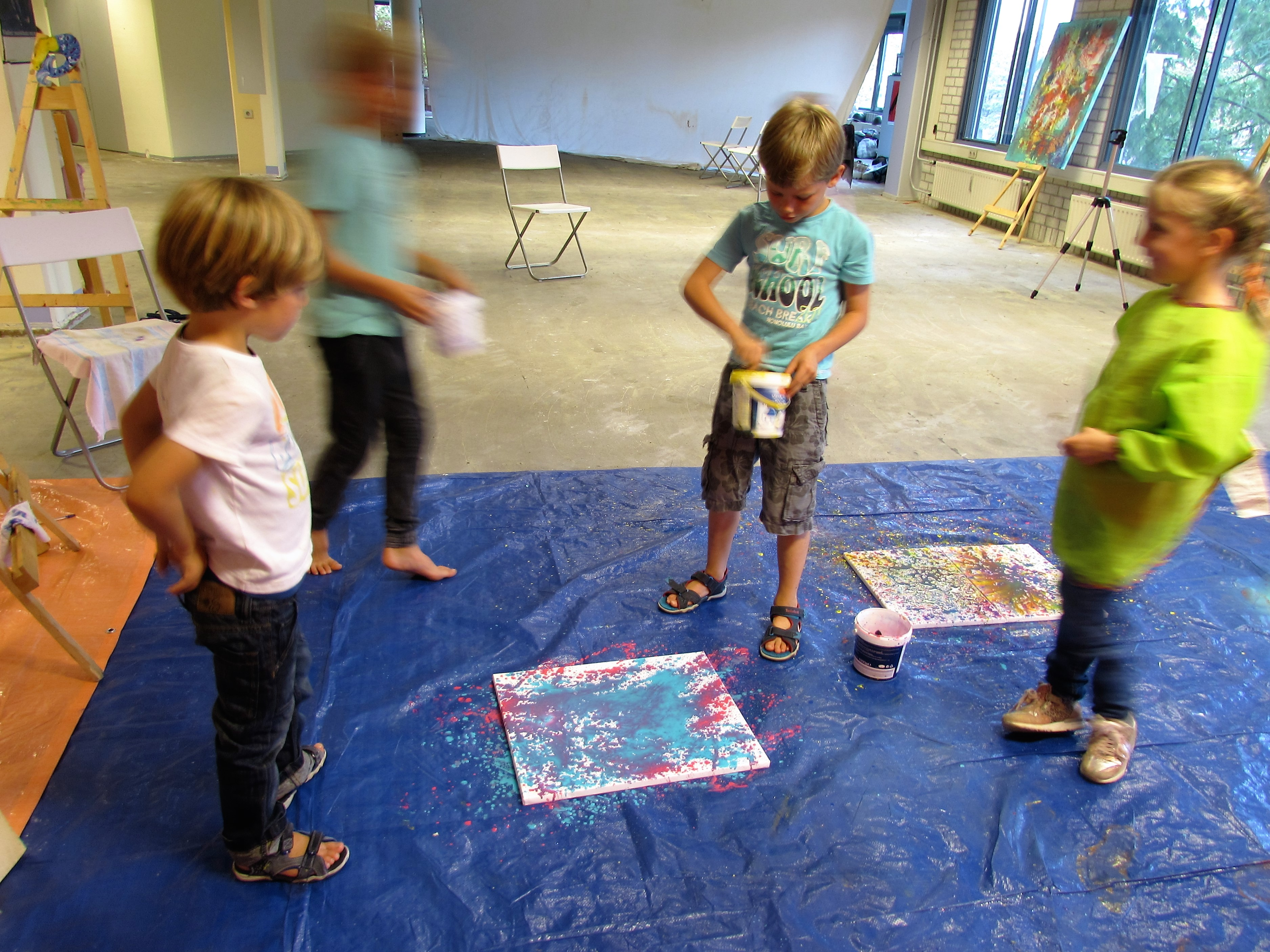 Action Painting Wolf en Lester