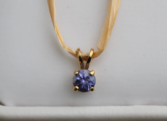 14K Yellow Gold Tanzanite Pendant