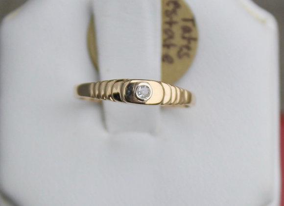 14K Yellow Gold Diamond Stacking Ring