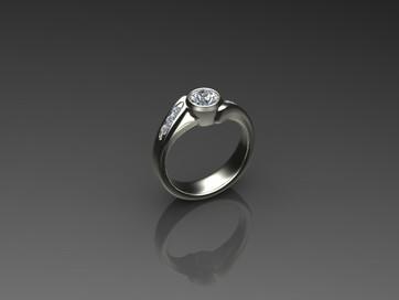 Full Bezel Bypass Diamond Ring