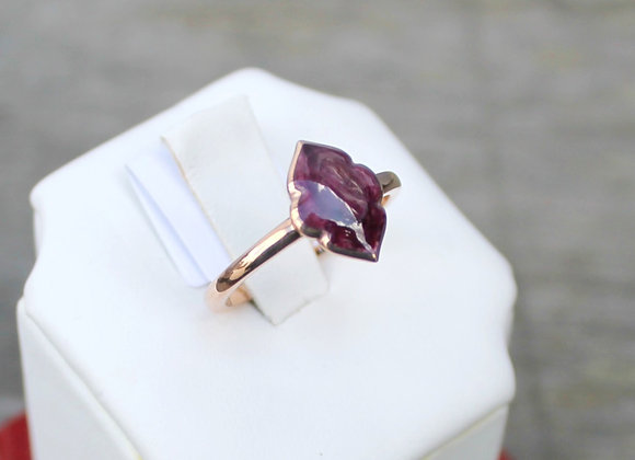 14K Rose Gold Purple Spiny Oyster Ring